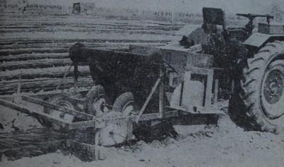 Машина за оформяне на лехи и застилане с черен полиетилен