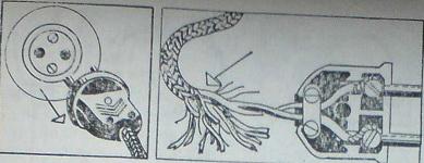 Щепселът с шнура се изважда и шнурът се отрязва до здраво място