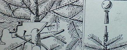 Скъсяване на новогодишна елха