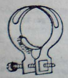 Метална скоба за закрепване и затягане на гумена подложка