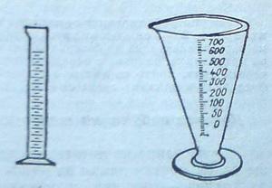 Стъклен и конусовиден мерителен цилиндър