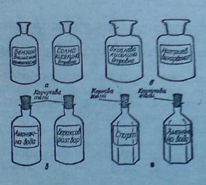 Стъклени шишета и банки за реактиви