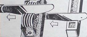 Режещата част на ножа се прекарва няколко пъти през точилката с леко натискане