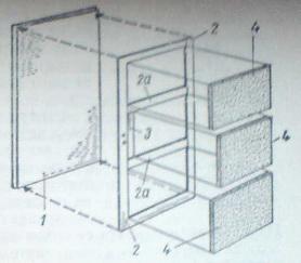 Вътрешна част на заглушаваща плоскост за врата