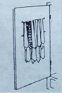 Вратата на гардероба може да се използва за окачване на вратовръзките