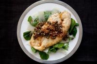 Бяла риба със сос от каперси