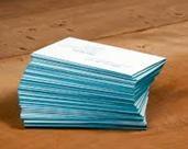 Представете себе си чрез визитки