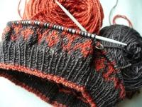 Свивки при плетене с две игли